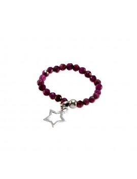 Pierścionek STAR Rubin 925