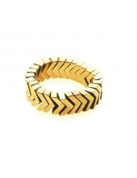 Pierścionek Złoty Hematyt