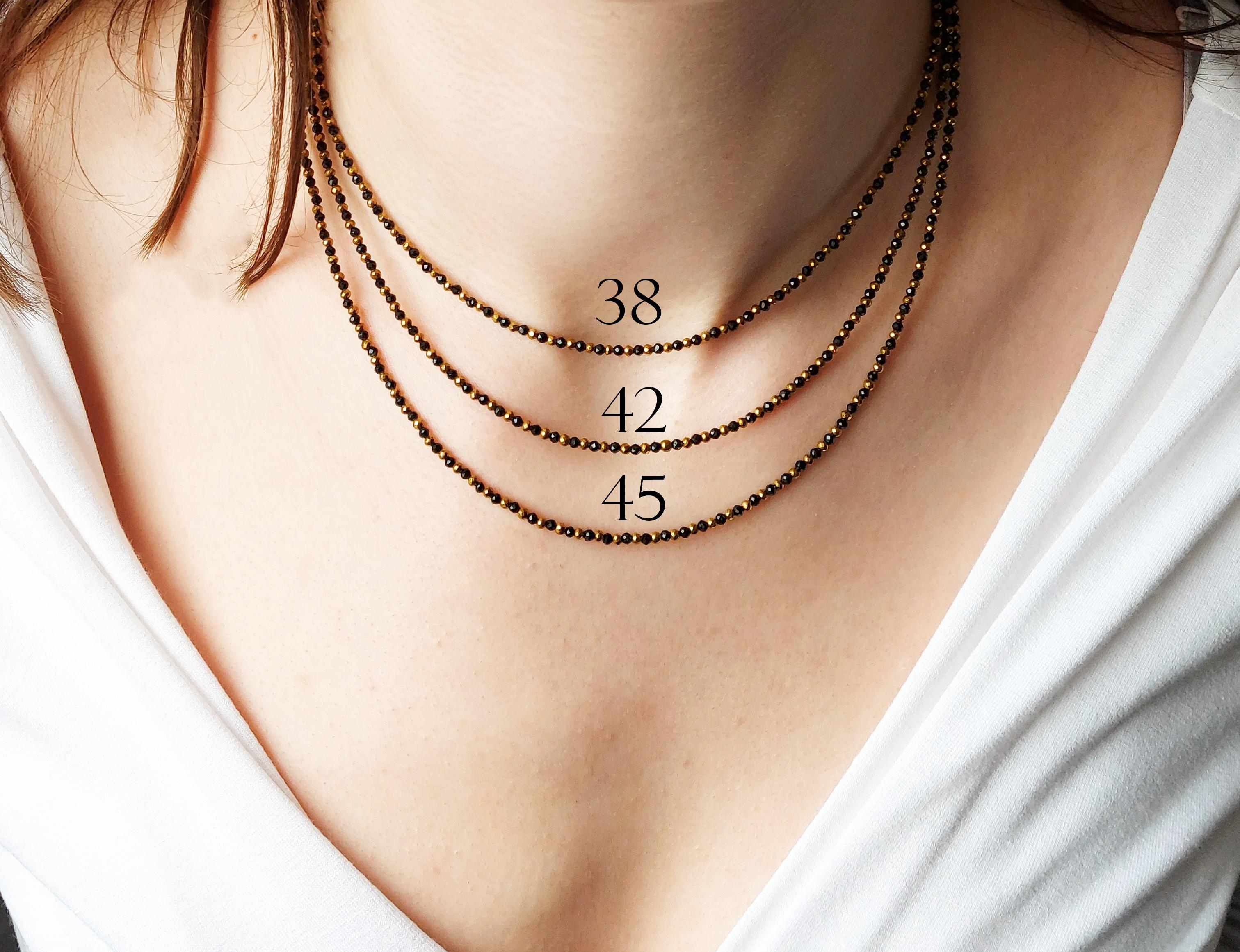 długości naszyjników