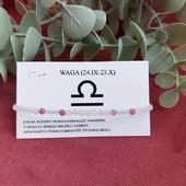 Macie już swoją bransoletkę dopasowaną do znaku zodiaku ?🤔 Propozycja dla wagi -kwarc turmalin i Akwamaryn w bardzo dziewczęcym połączeniu kolorystycznym 🥰  Jaki znak wybrałybyście dla siebie ?🤔